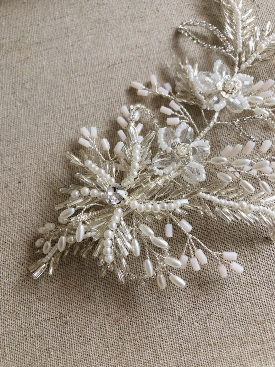 Laurista Large Silver Wedding Hair Comb
