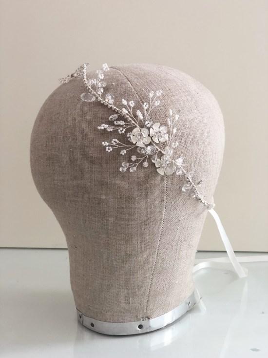 Lilla Silver Wedding Headpiece