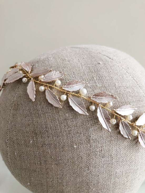Bramble Gold Leaf Grecian Wedding Hair Vine