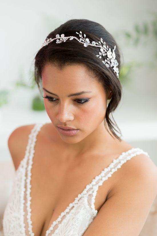 Silver Wedding Hair Vine Large