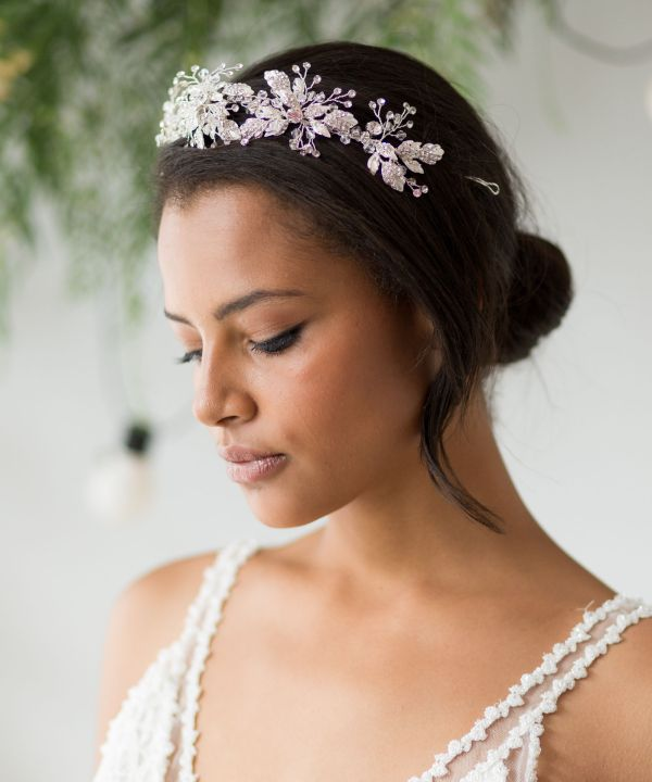 Aurelia Silver Wedding Tiara