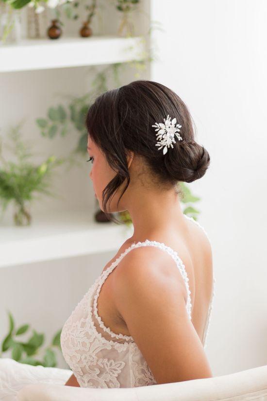Silver Wedding Hair Pins