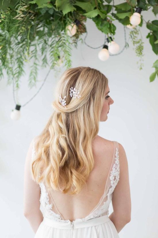 Briallen Silver Beaded Bridal Hair Pin