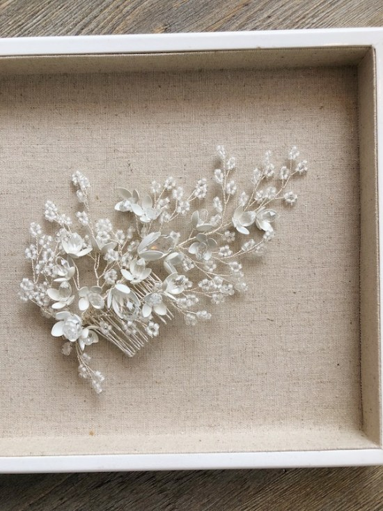 Esmerelda Statement Silver Wedding Headpiece