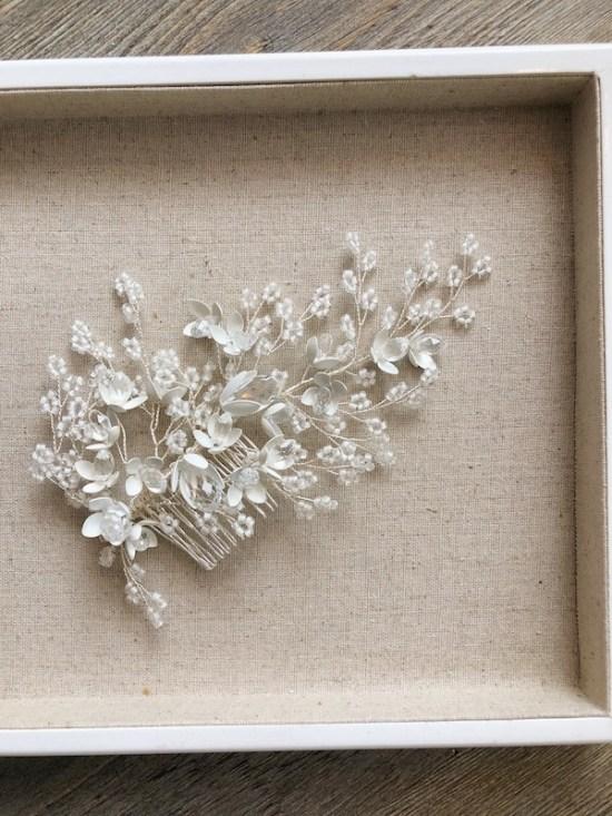 Esmerelda Statement Silver Wedding Headpiece