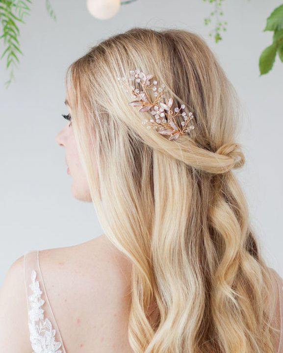 Celine Gold Wedding Hair Pin