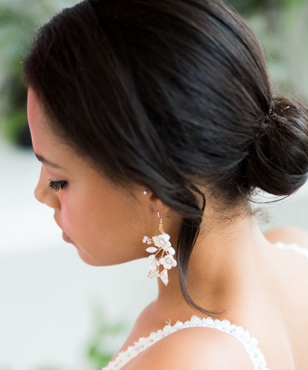 Georgina Statement Gold Bridal Earrings