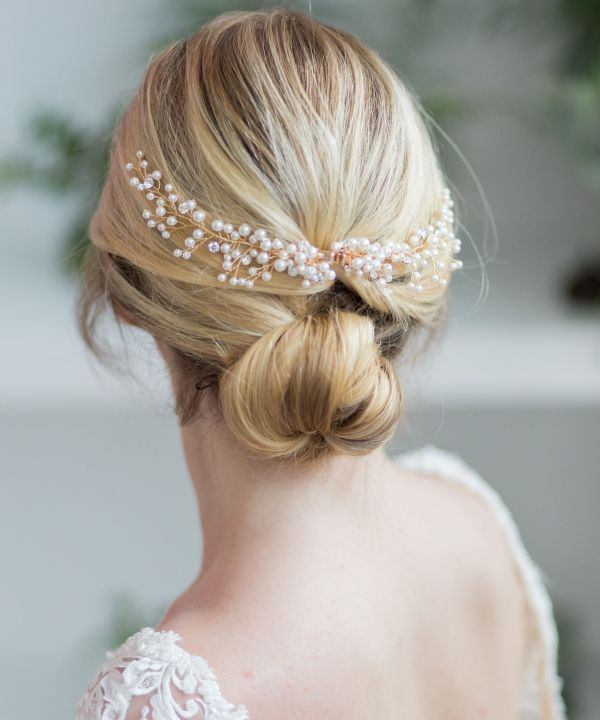 pearl wedding hair comb