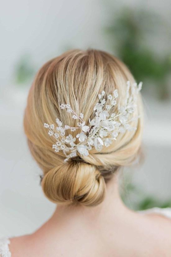 Esmerelda Statement Silver Wedding Hair Comb