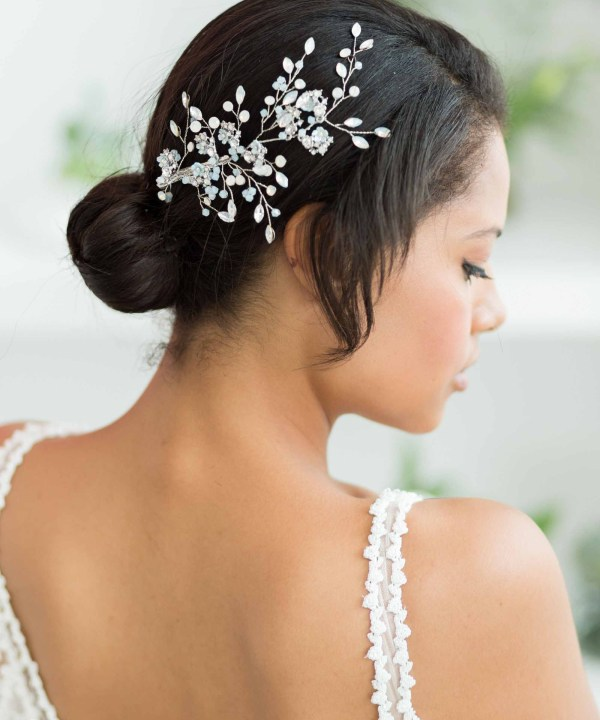 Jasmine Large Crystal Wedding Hair Comb