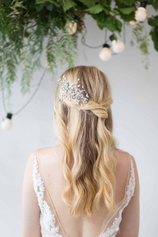 Jasmine Large Crystal Wedding Hair Comb