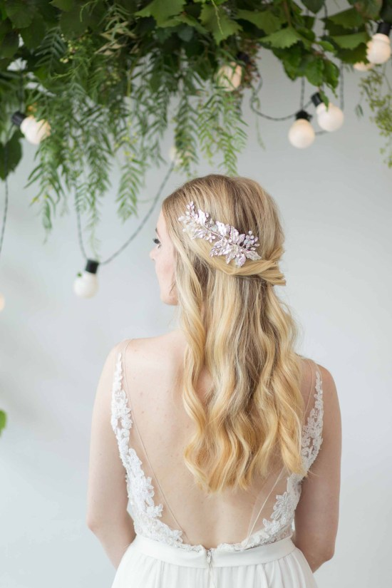 Serenyn silver wedding hair comb