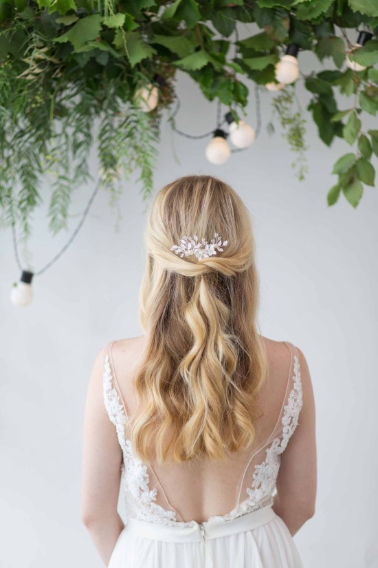 Briallen Silver Wedding Hair Comb