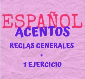 Reglas generales de acentuación en español