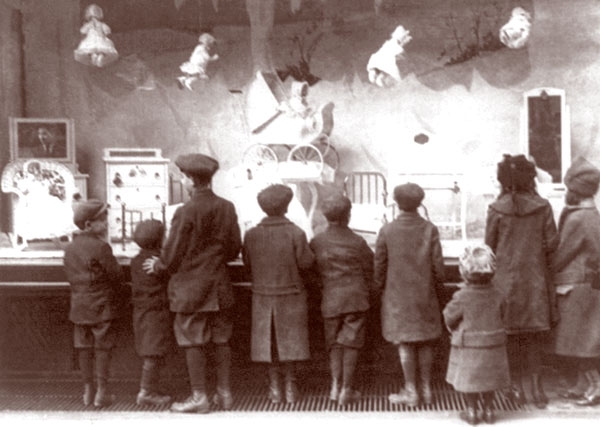 Early 1900's Christmas windows.