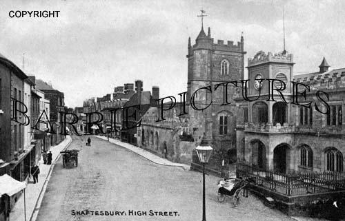 Shaftesbury, High Street c1909