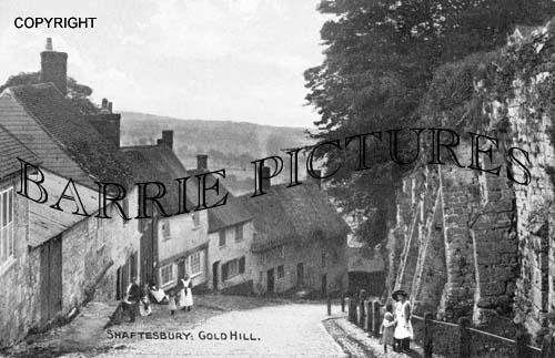 Shaftesbury, Gold Hill c1909