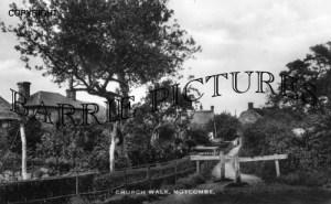 Motcombe, Church Walk c1930