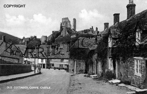 Corfe Castle, Old Cottages c1910