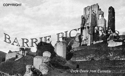 Corfe Castle, from Turnstile c1900