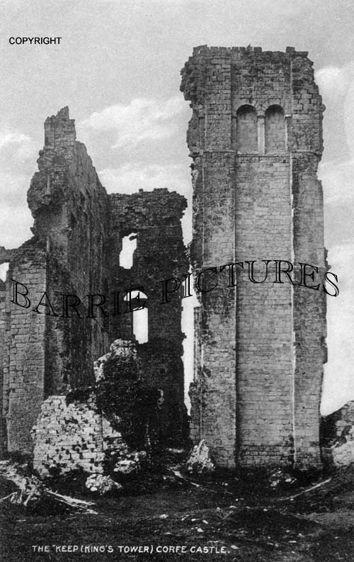 Corfe Castle, The Keep (Kings Tower) c1920