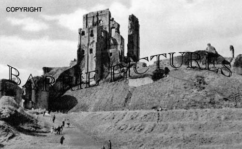 Corfe Castle, from the Entrance c1930
