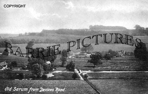 Old Sarum, from Devizes Road c1890