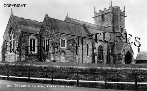 Corfe Castle, St Edward's Church c1955