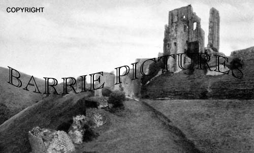Corfe Castle, The Keep from Entrance Gate c1920