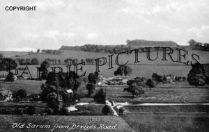 Old Sarum, from Devizes Road c1905