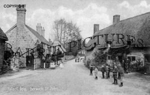 Berwick St John, Talbot Inn c1900