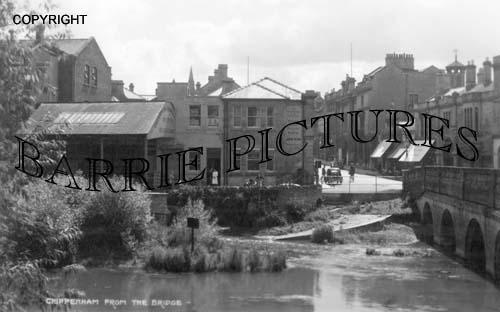 Chippenham, from the Bridge c1945