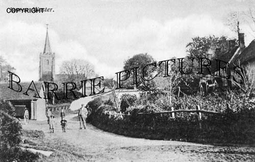 Iwerne Minster, Village c1902