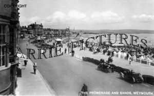 Weymouth, Promenade and Sands c1930