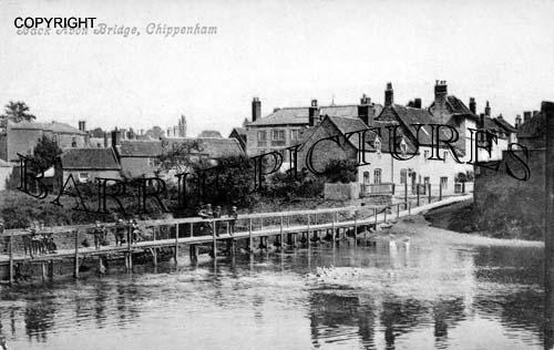 Chippenham, Back Avon Bridge c1900