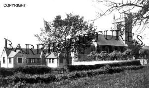 Bourton, School and Church c1920