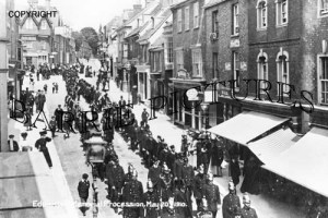 Blandford, Edward VII Memorial Procession May 20th 1910