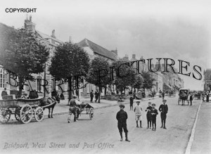 Bridport, West Street and Post Office c1910