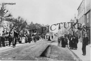 Bridport, West Street Market Day c1910