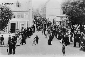 Bridport, Victoria Grove, Coronation Day June 22nd 1911