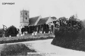 Gussage All Saints, The Church c1920