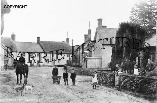Milborne St Andrew, Village c1910
