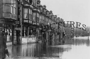 Swanage, Street Flood c1914