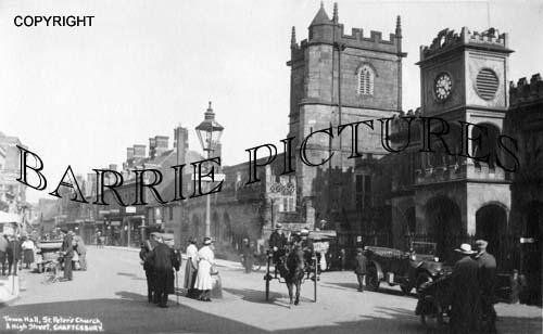 Shaftesbury, Town Hall and High Street c1920