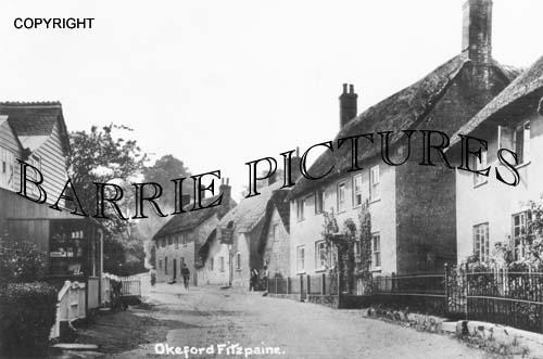 Okeford Fitzpaine, Village c1905