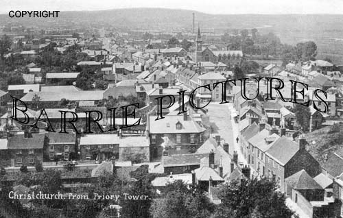 Christchurch, from the Priory Tower 1905