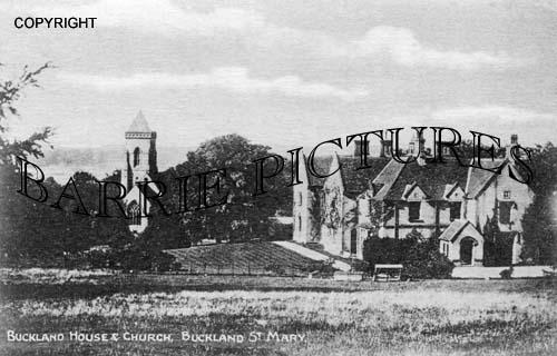 Buckland St Mary, Buckland House and Church c1890