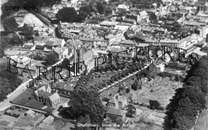 Shaftesbury, from the Air c1930