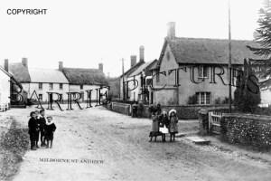 Milborne St Andrew, Village c1900