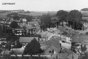 Cranborne, view from Church Tower c1930